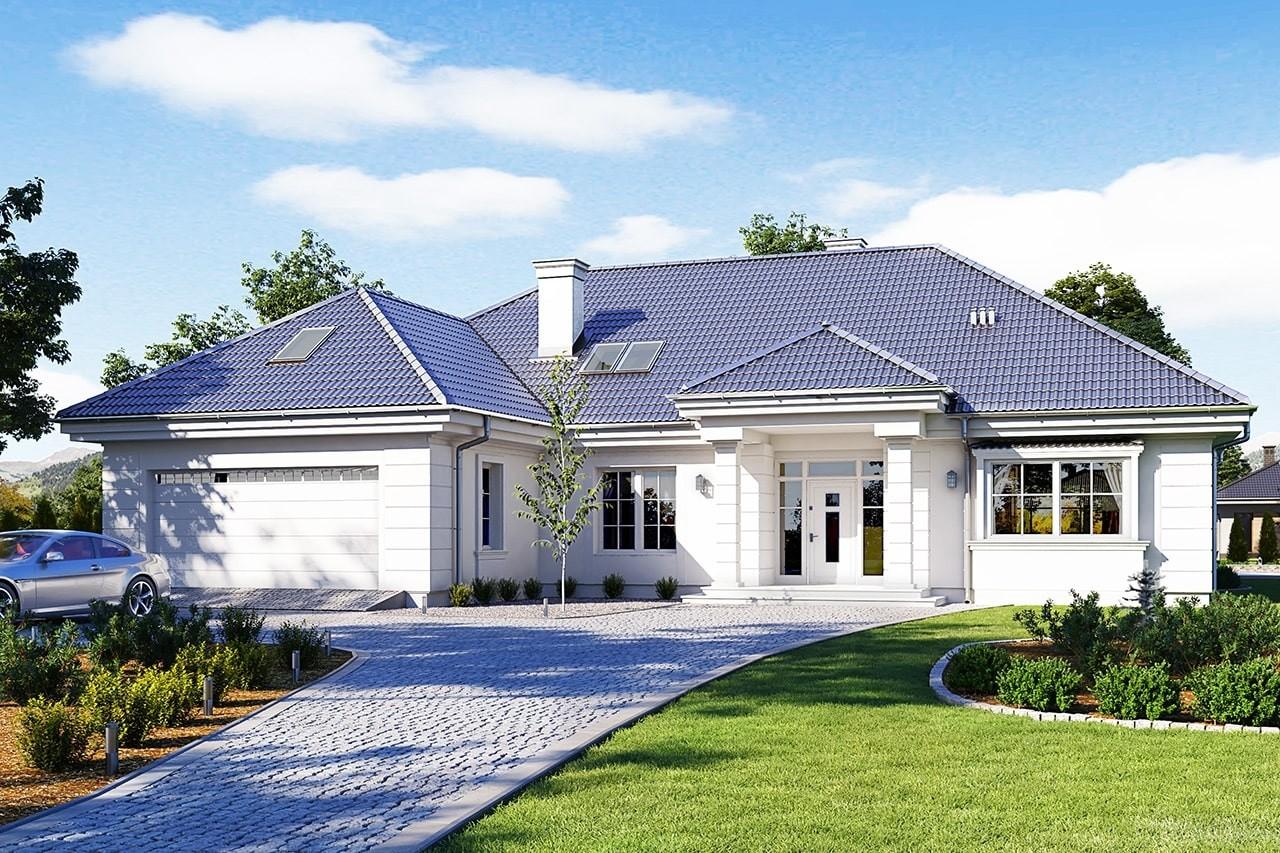 Projekt domu Willa parkowa 5 - wizualizacja frontowa