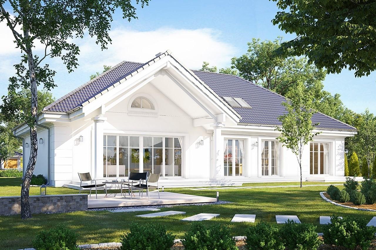 Projekt domu Willa parkowa 5 - wizualizacja tylna