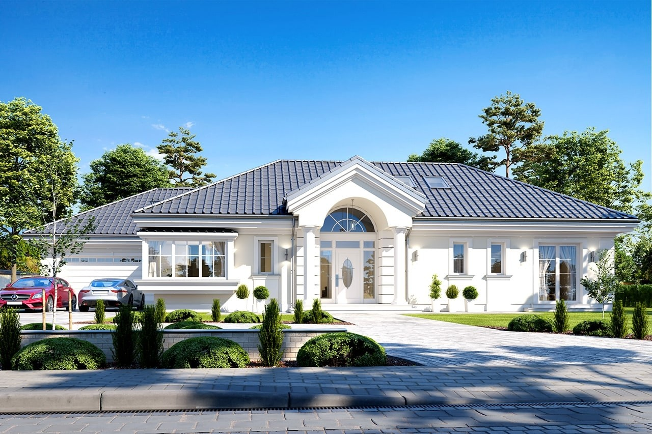 Projekt domu Willa parkowa 6 - wizualizacja frontowa