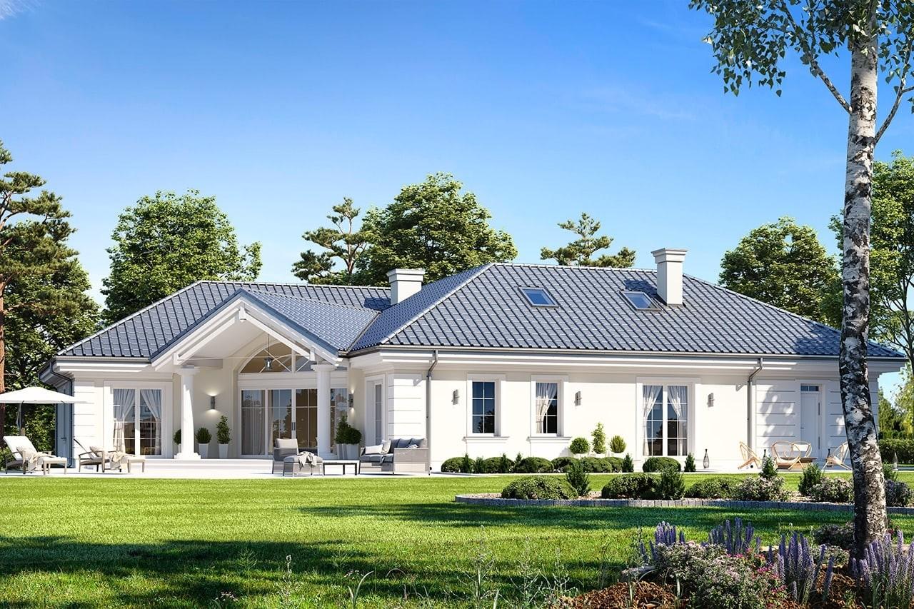 Projekt domu Willa parkowa 6 - wizualizacja tylna