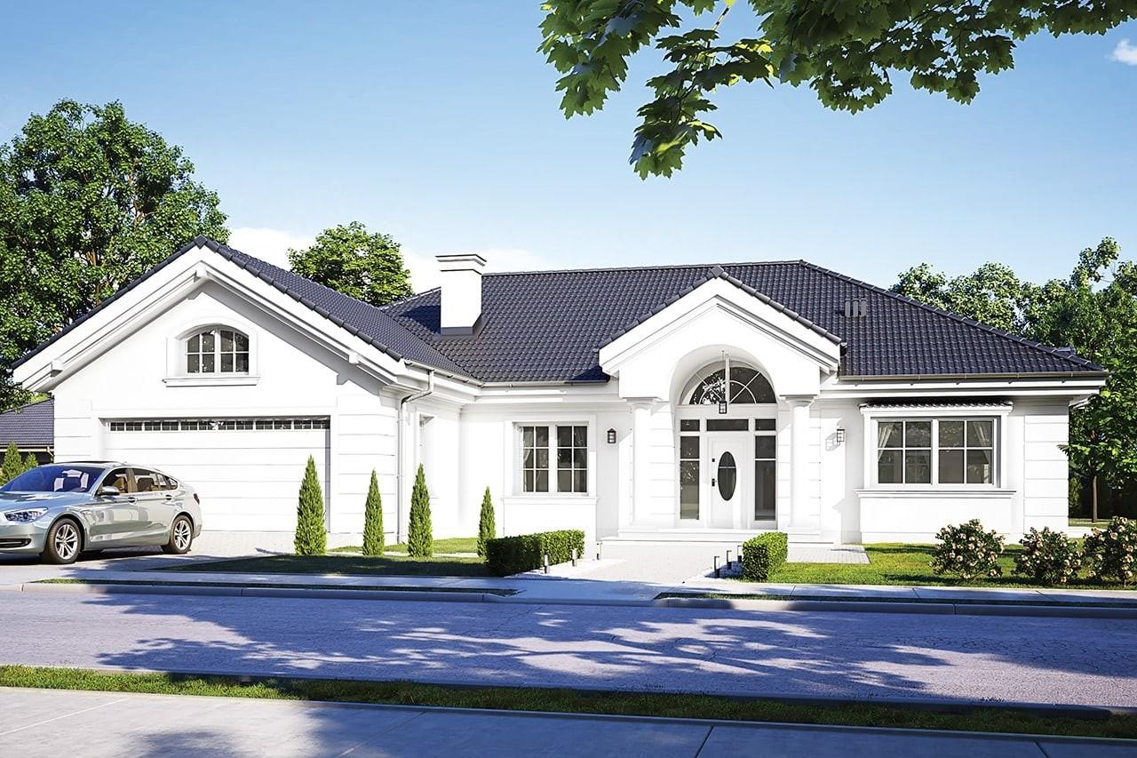 Projekt domu - Willa Parkowa D - wizualizacja frontowa