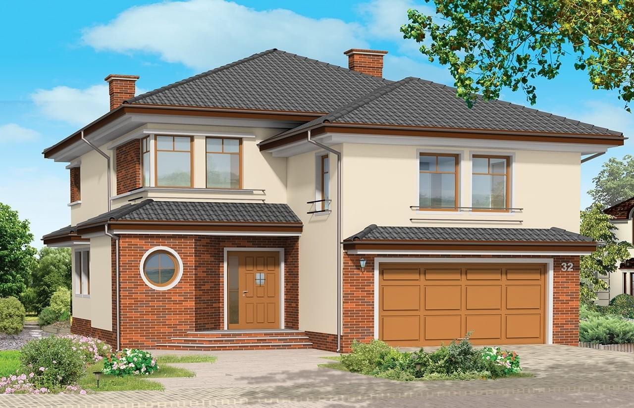 Projekt domu Wygodny 2 - wizualizacja frontowa