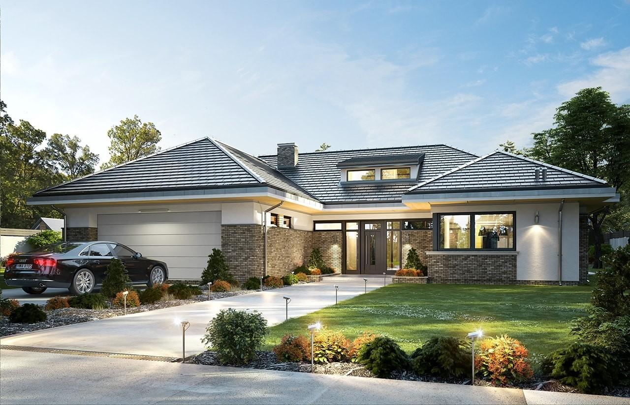 Projekt domu Wyjątkowy 2 - wizualizacja frontowa