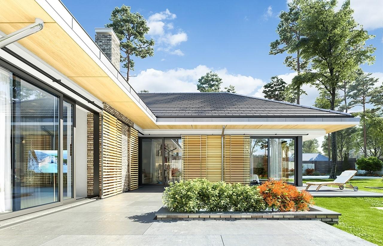 Projekt domu Wyjątkowy 2 - wizualizacja tylna