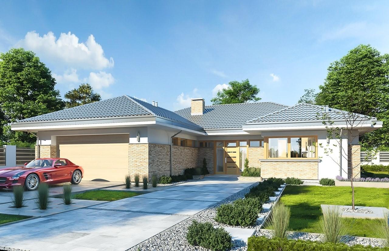 Projekt domu Wyjątkowy 3 - wizualizacja frontowa