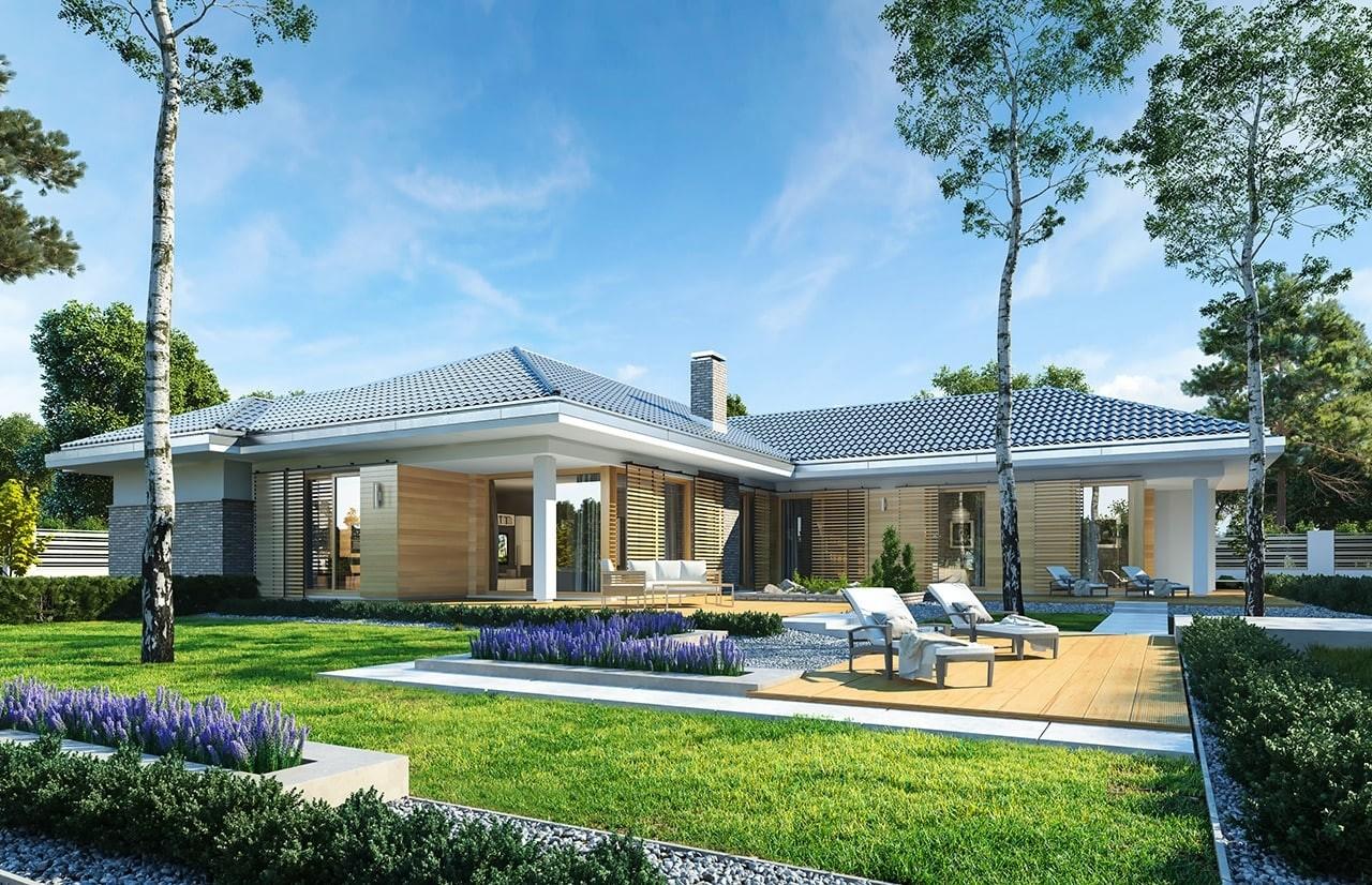 Projekt domu Wyjątkowy 3 - wizualizacja tylna