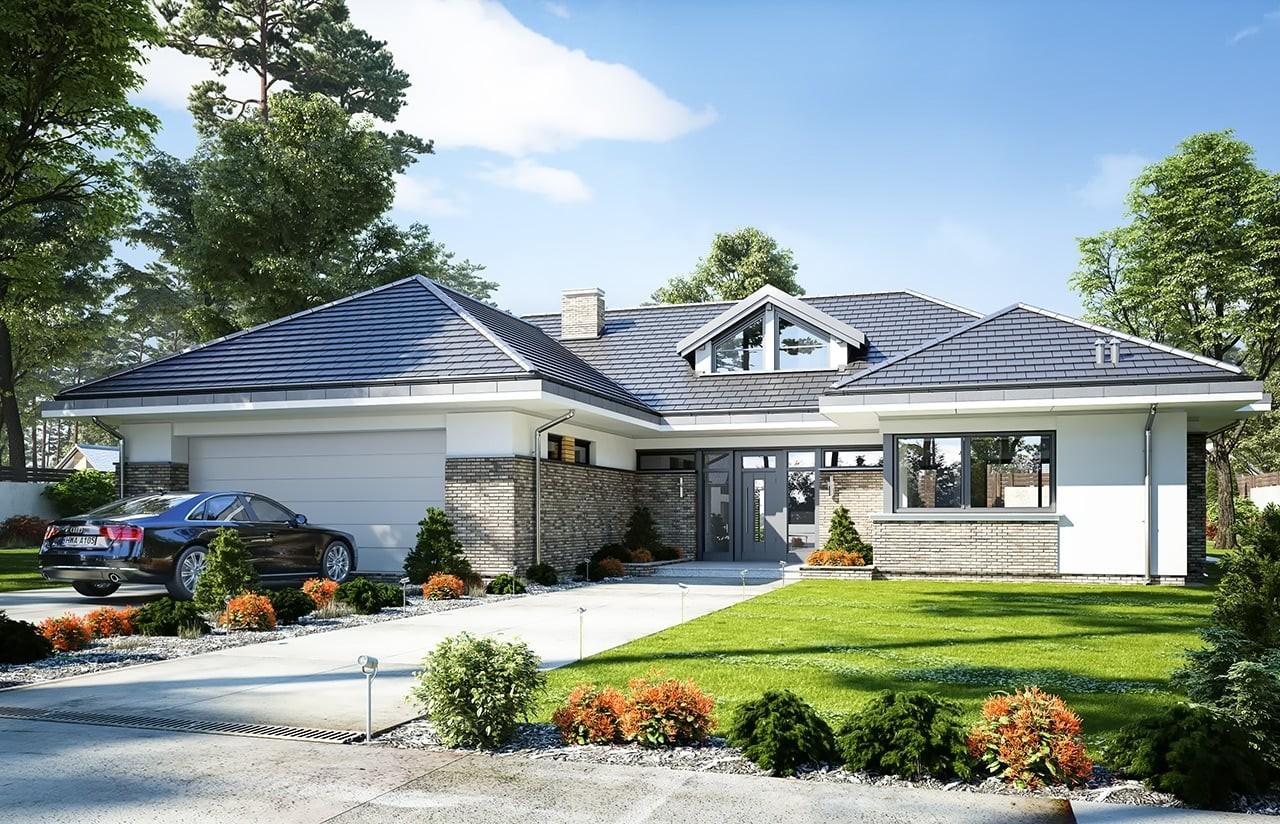 Projekt domu Wyjątkowy - wizualizacja frontowa