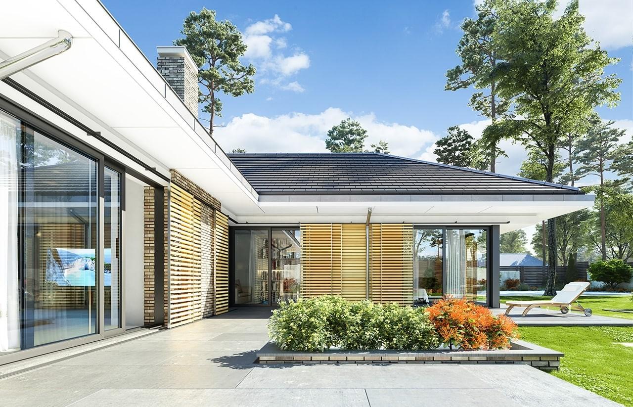 Projekt domu Wyjątkowy - wizualizacja tylna