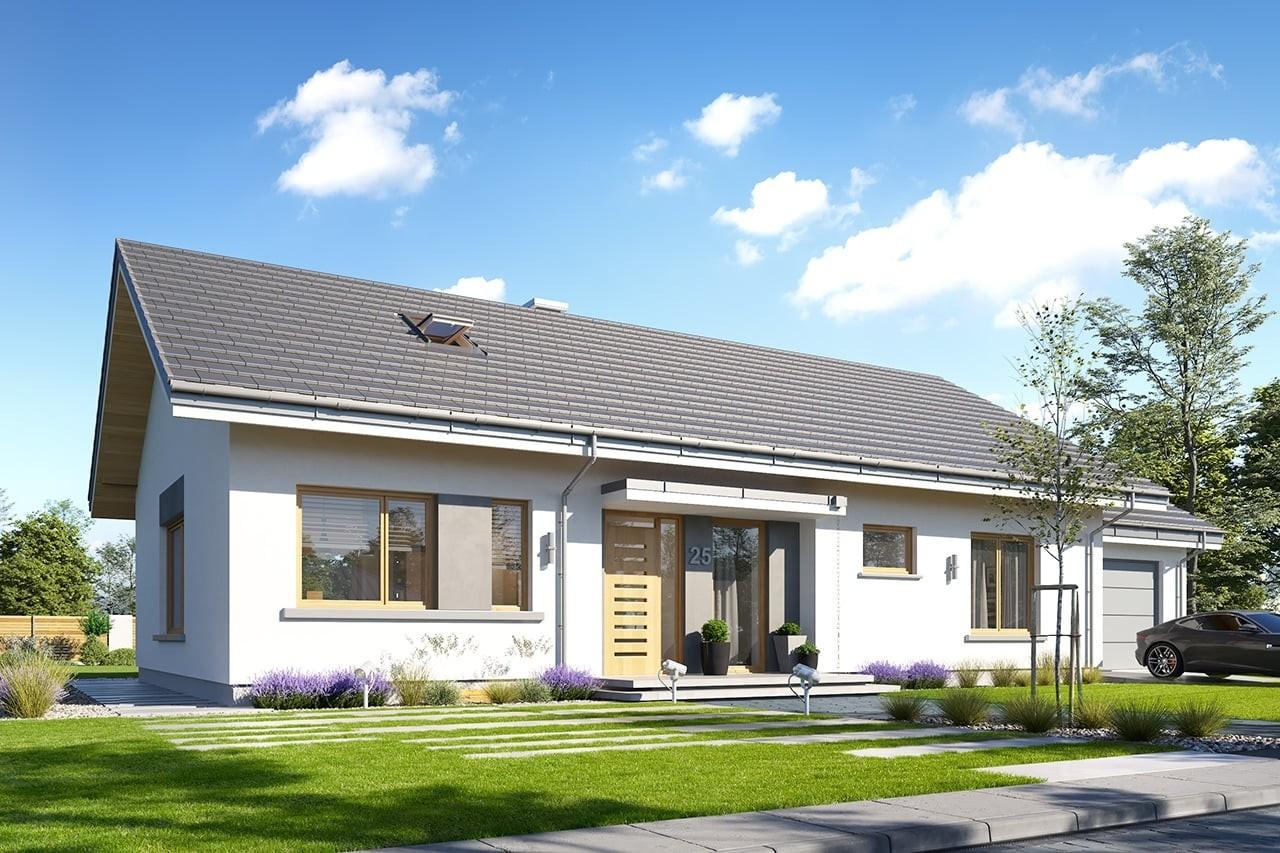 Projekt domu Wymarzony 10 - wizualizacja frontowa