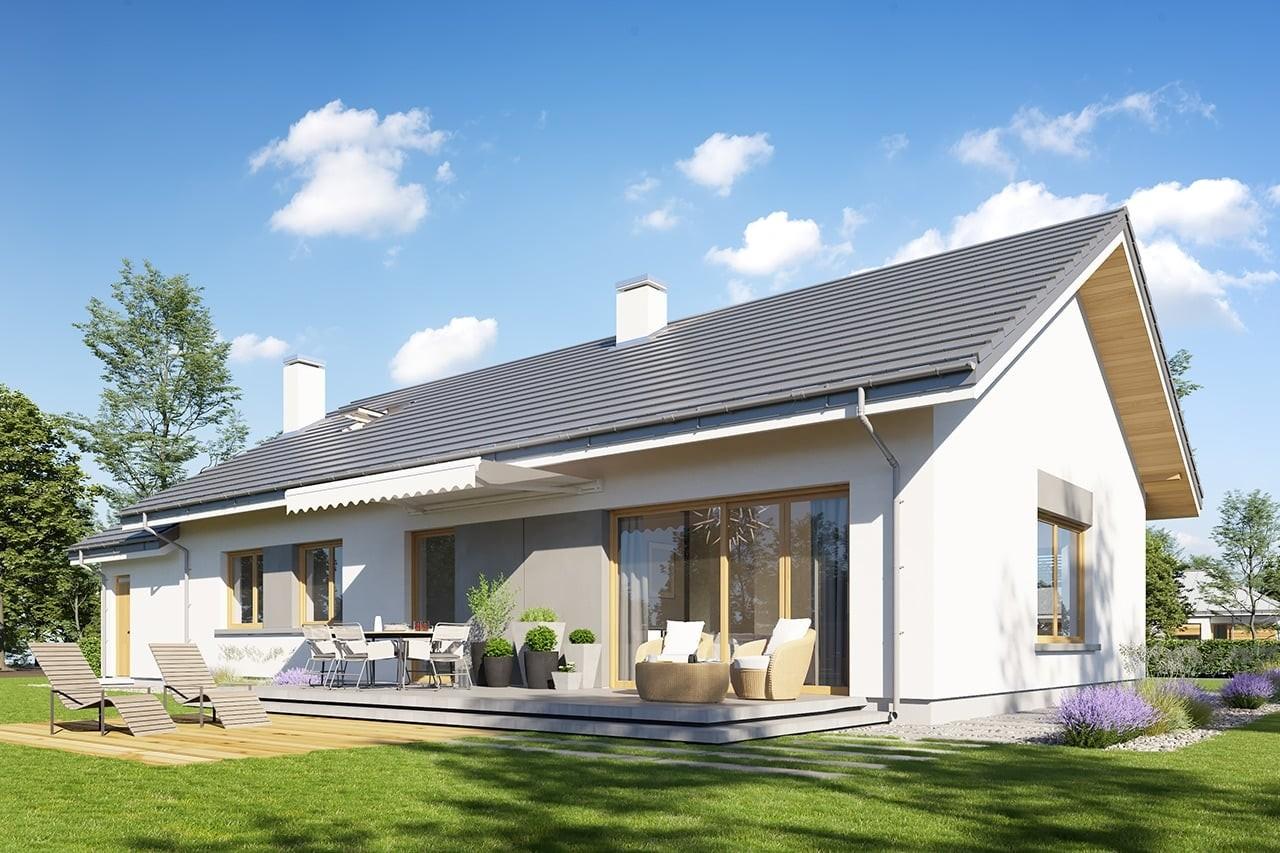 Projekt domu Wymarzony 10 - wizualizacja tylna