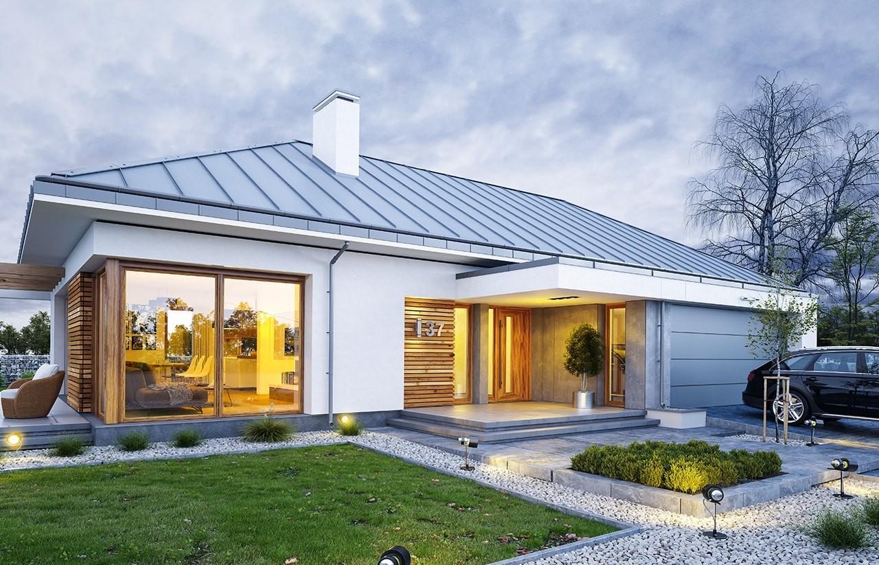 Projekt domu Wymarzony 2 - wizualizacja frontowa