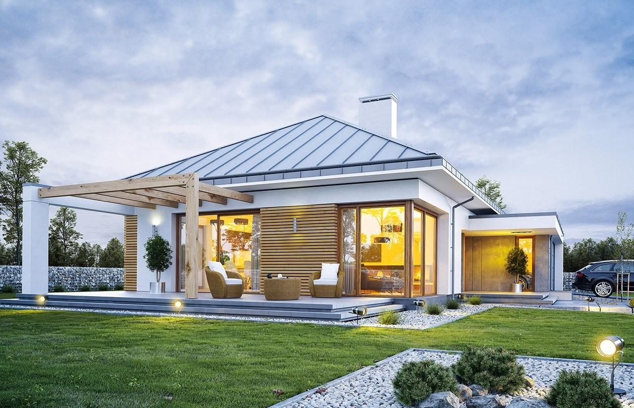 Projekt domu Wymarzony 2 - wizualizacja tylna