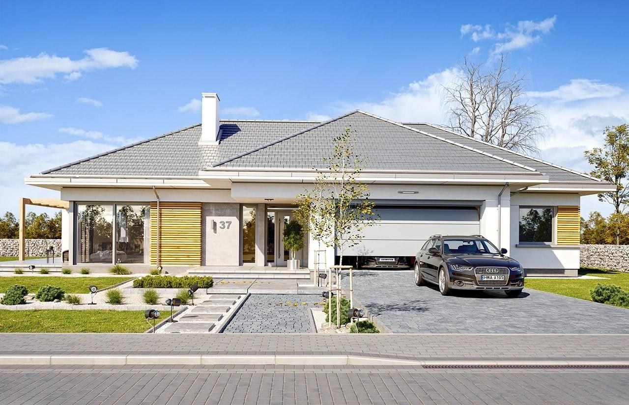 Projekt domu Wymarzony 3 - wizualizacja frontowa