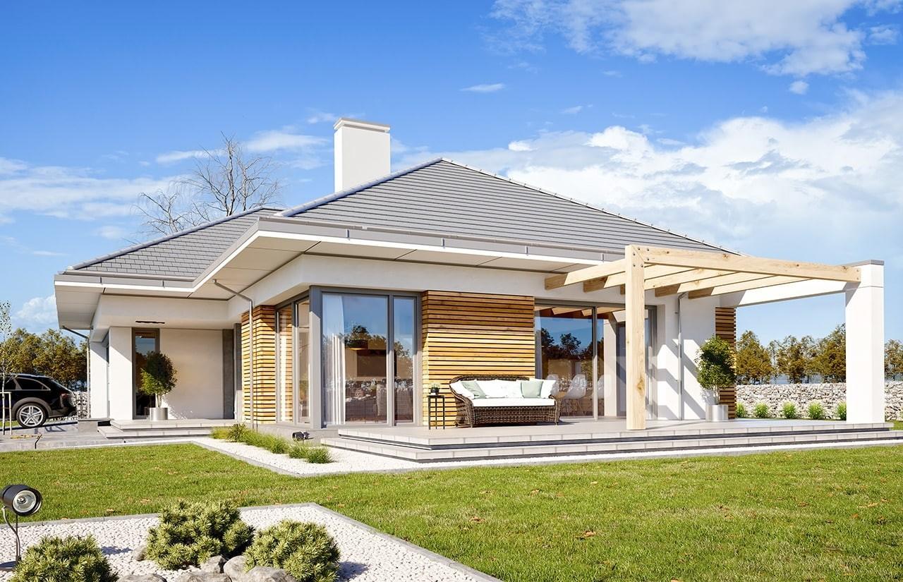 Projekt domu Wymarzony 3 - wizualizacja tylna