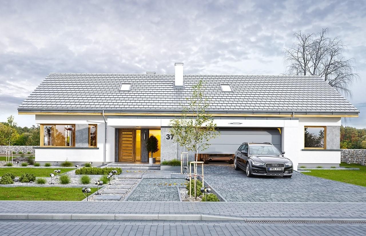 Projekt domu Wymarzony 5 - wizualizacja frontowa