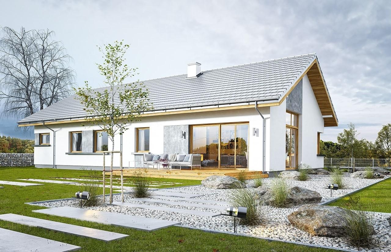 Projekt domu Wymarzony 5 - wizualizacja tylna