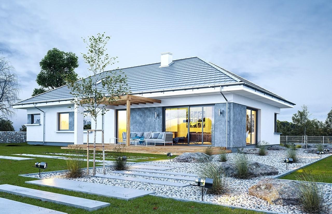 Projekt domu Wymarzony 6 - wizualizacja tylna