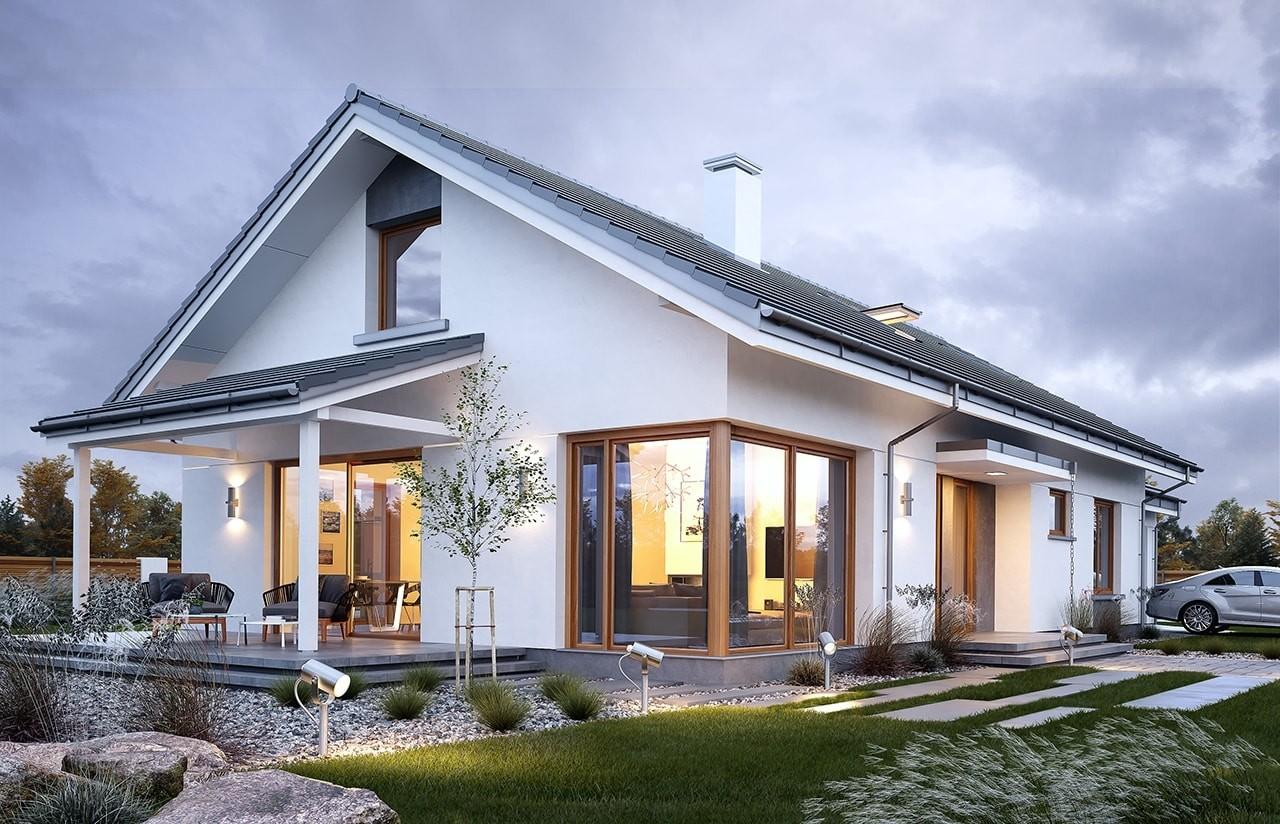 Projekt domu Wymarzony 7 - wizualizacja boczna