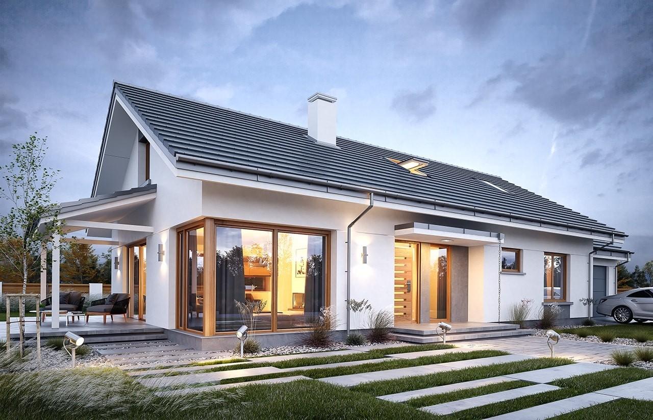 Projekt domu Wymarzony 7 - wizualizacja frontowa