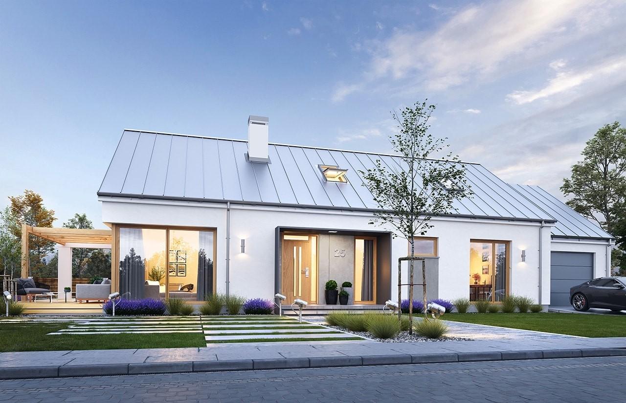 Projekt domu Wymarzony 8 - wizualizacja frontowa