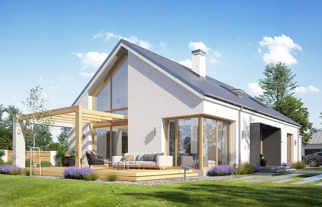 Projekt domu Wymarzony 8 - wizualizacja tylna