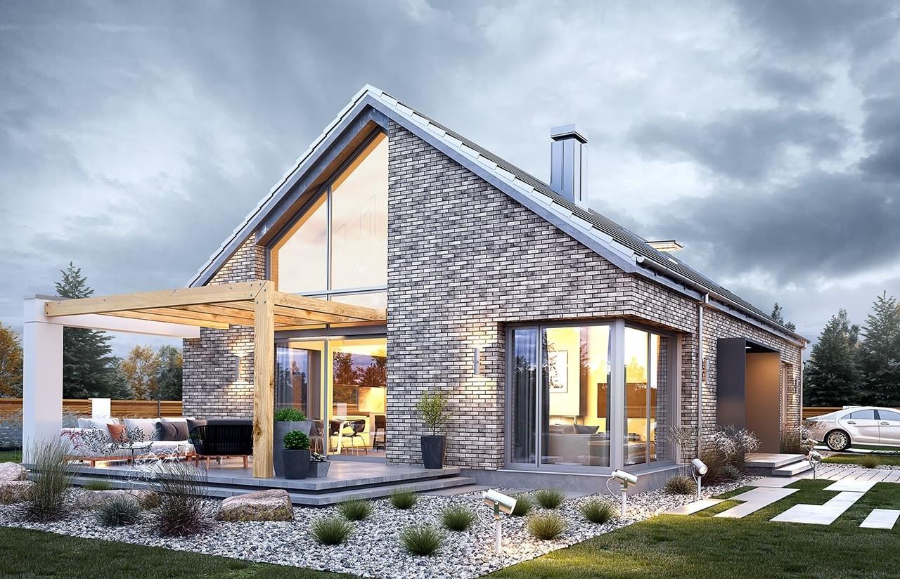 Projekt domu Wymarzony 9 - wizualizacja tylna