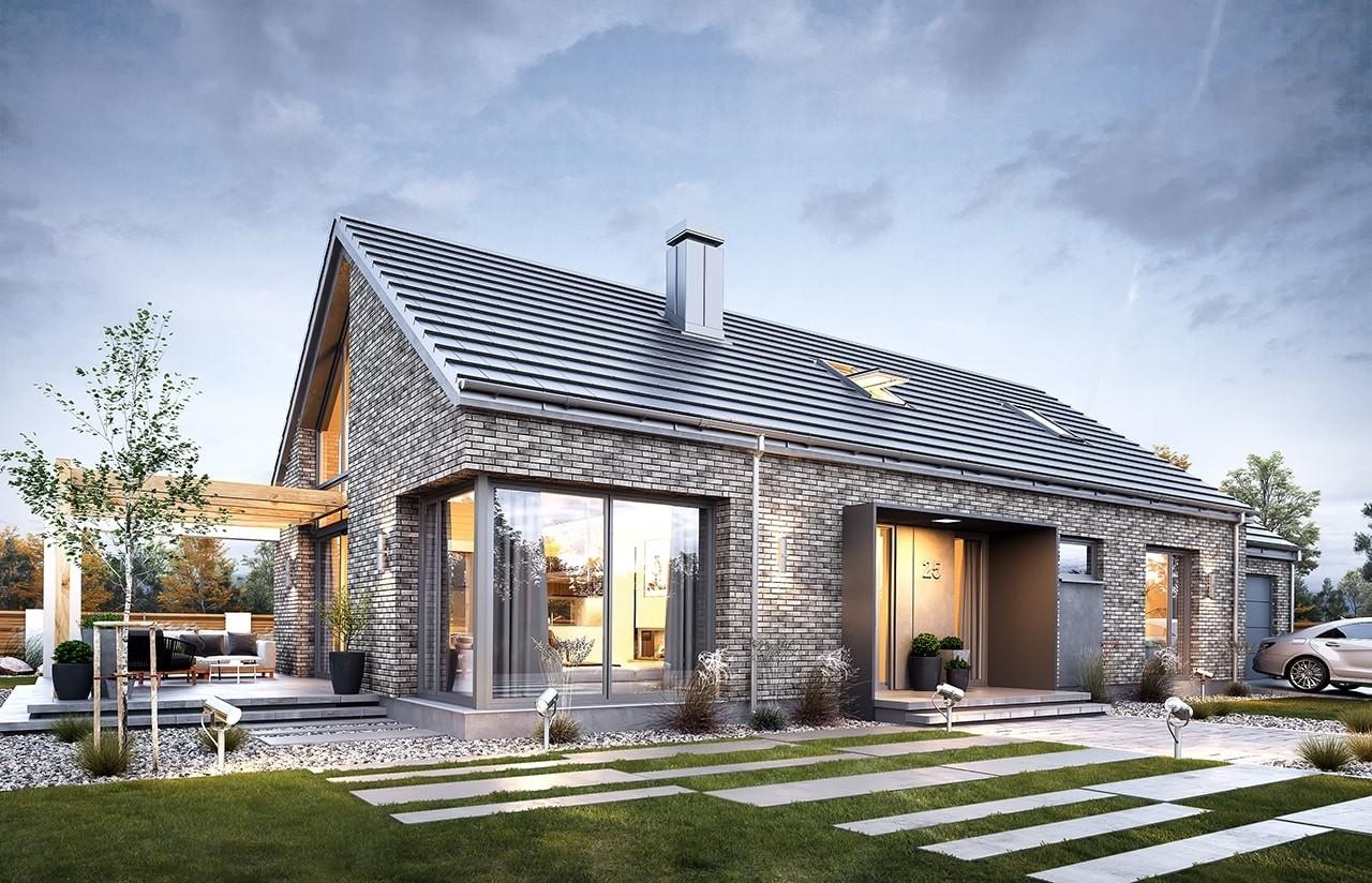 Projekt domu Wymarzony 9 - wizualizacja frontowa