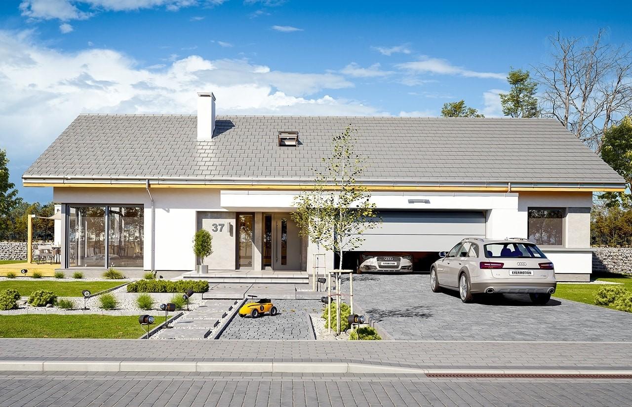 Projekt domu Wymarzony - wizualizacja frontowa