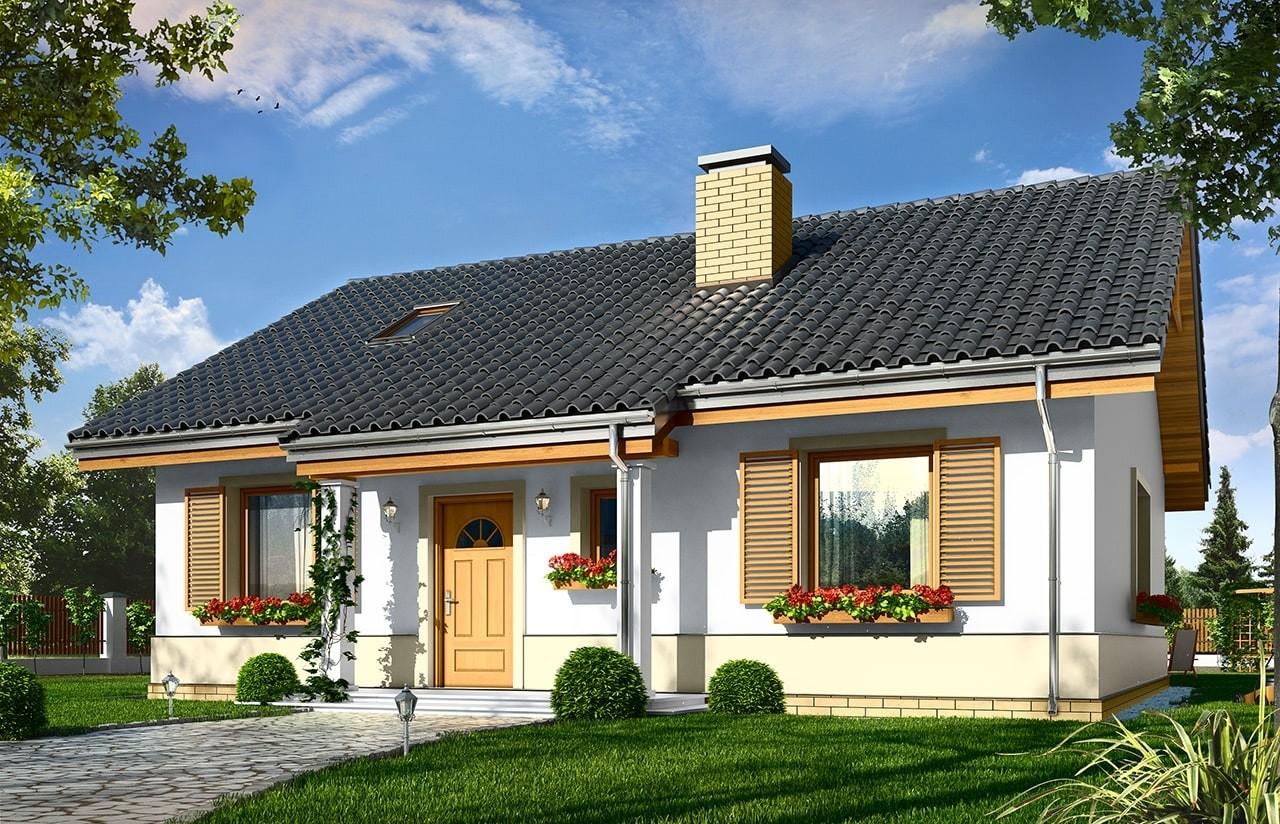 Projekt domu Żabka 3 - wizualizacja frontowa