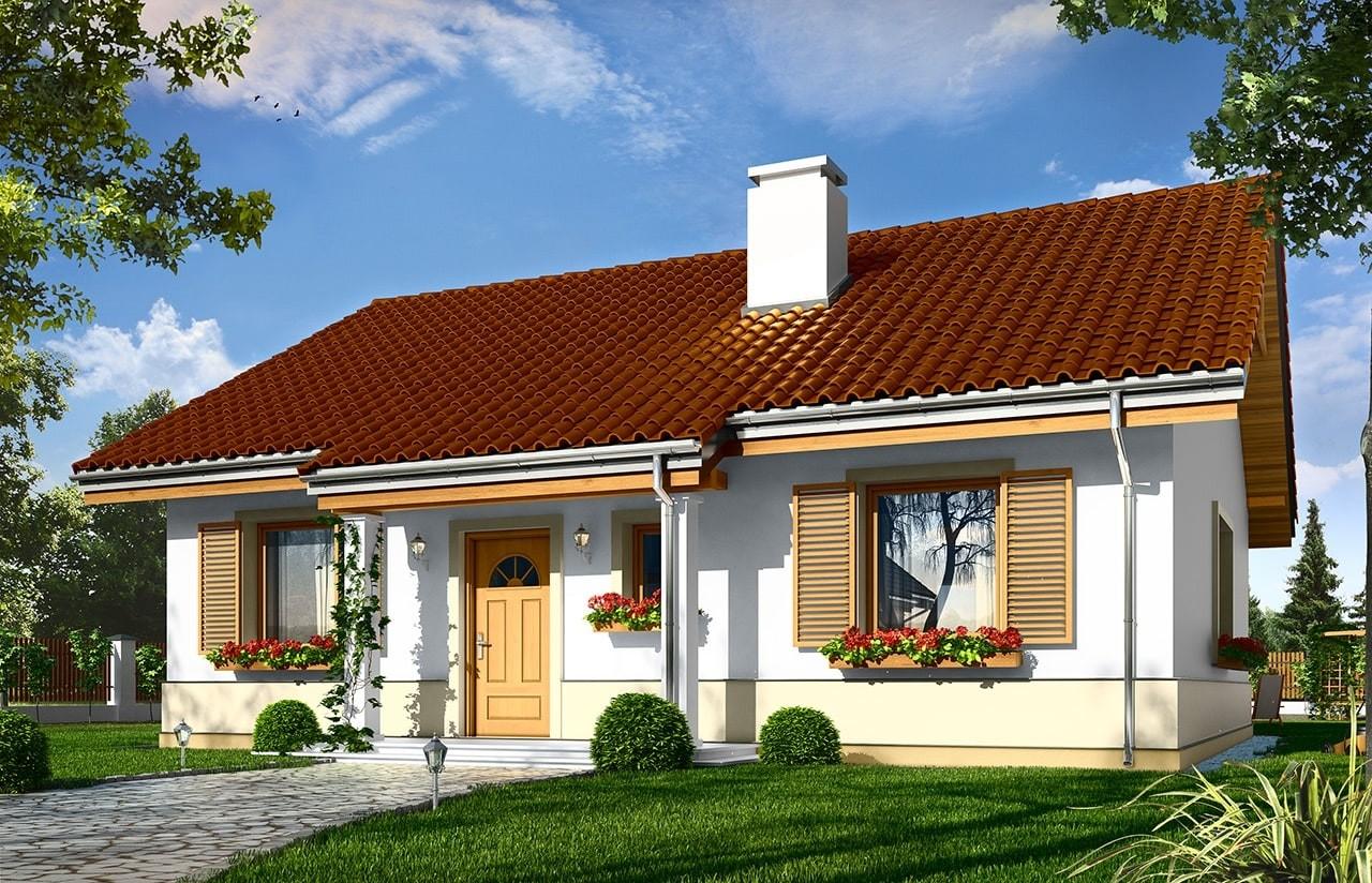 Projekt domu Żabka - wizualizacja frontowa