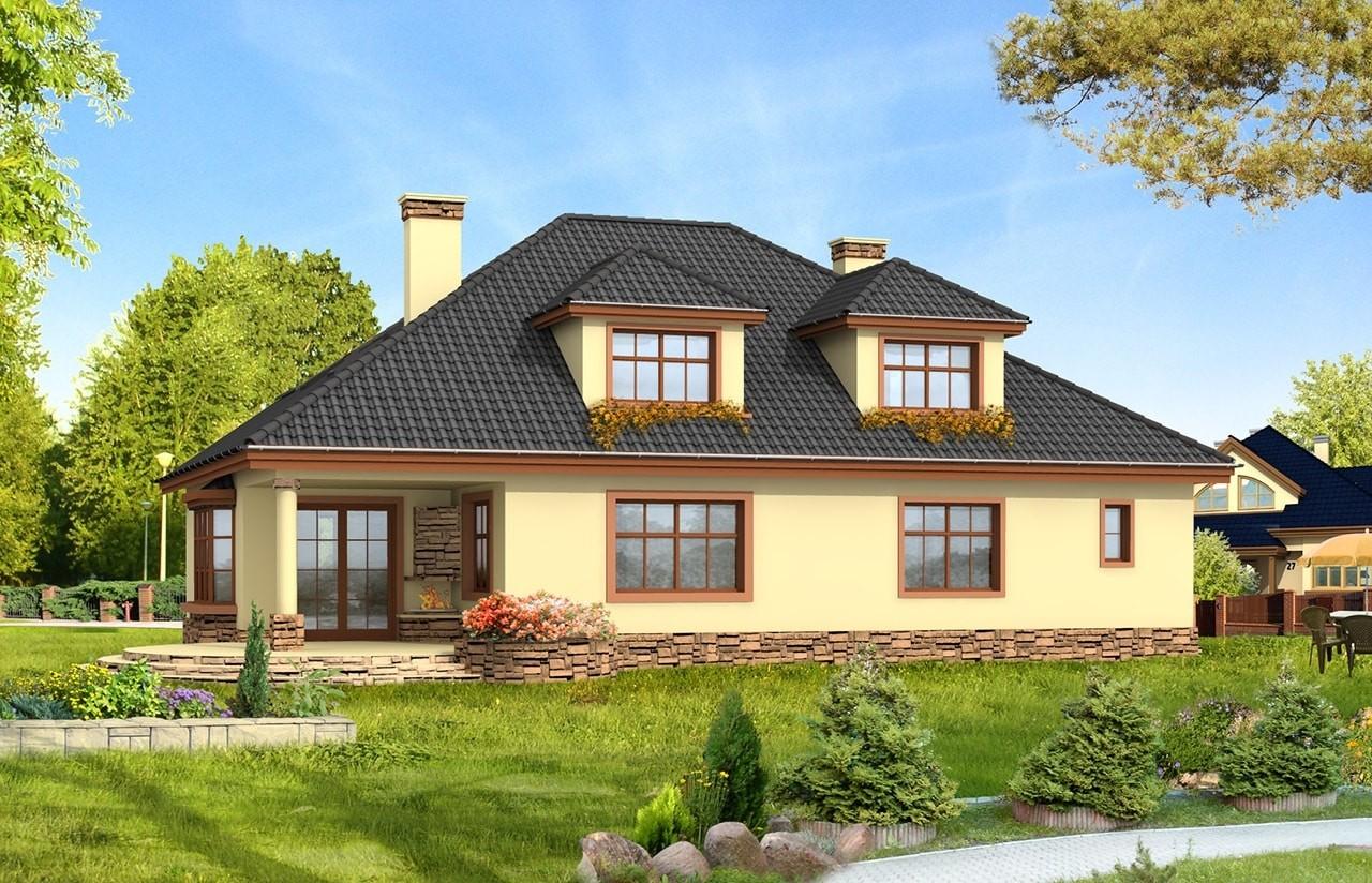 Projekt domu Zacisze 2 - wizualizacja tylna