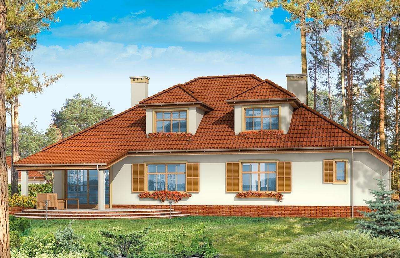 Projekt domu Zacisze 3 - wizualizacja tylna