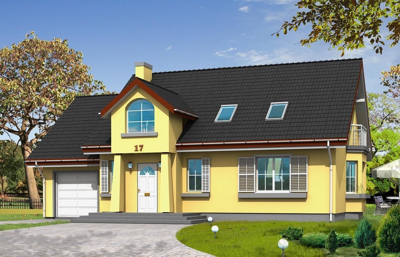 Projekt domu Zgrabny 2 - wizualizacja frontowa
