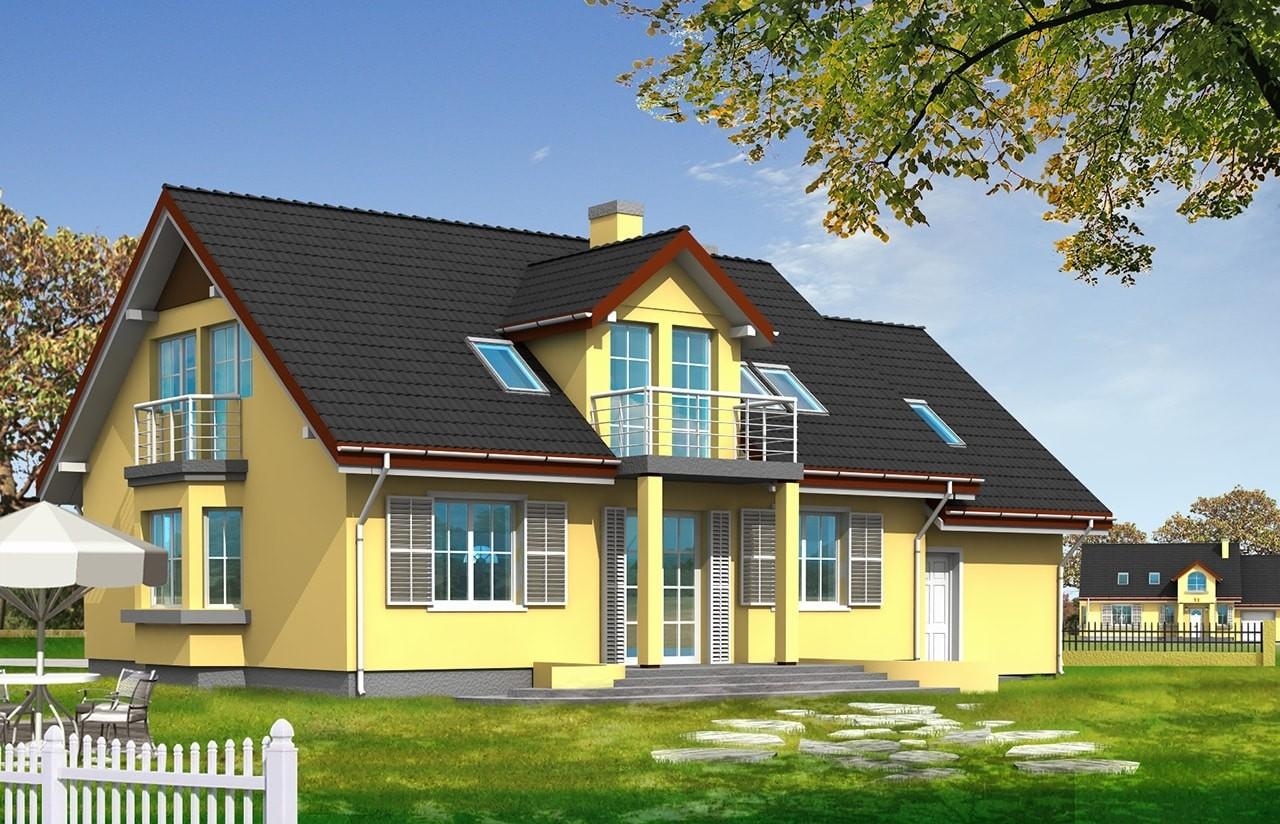 Projekt domu Zgrabny 2 - wizualizacja tylna