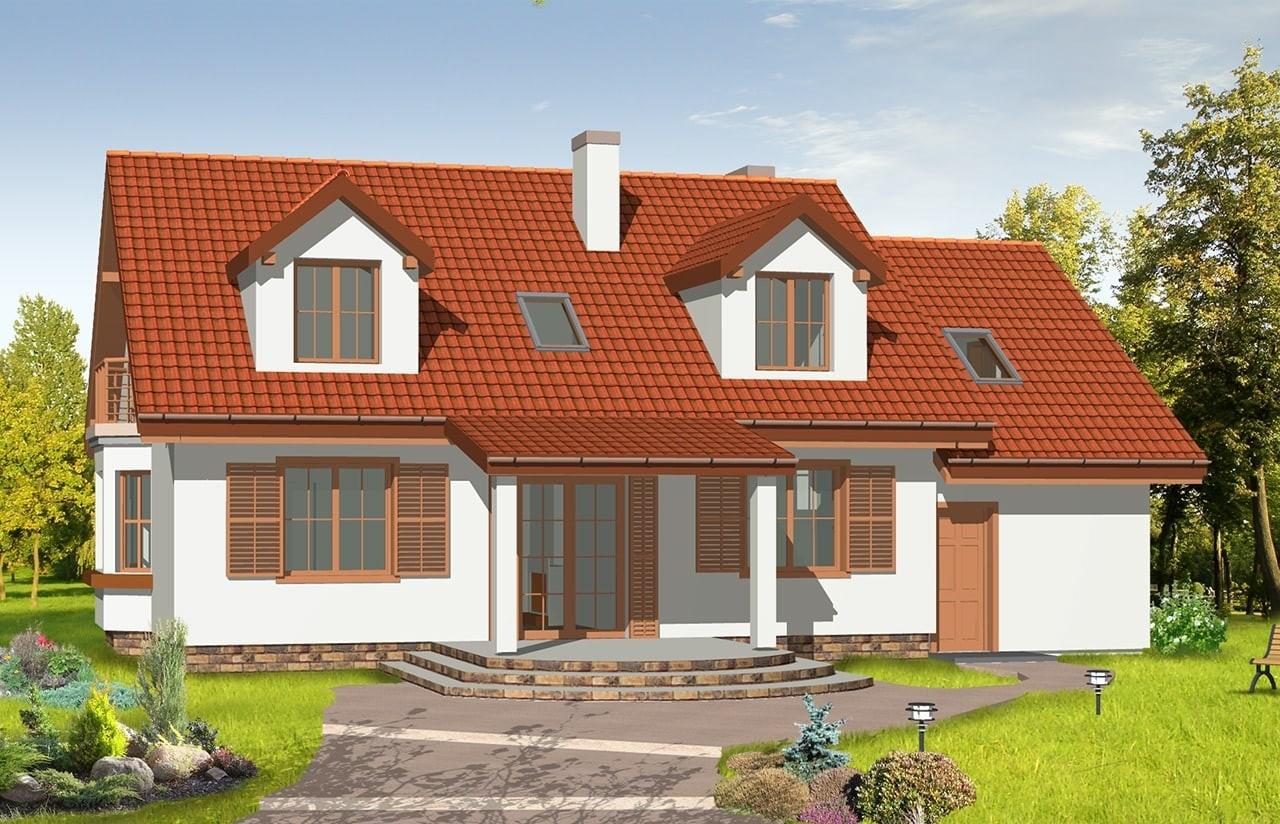 Projekt domu Zgrabny 3 - wizualizacja tylna