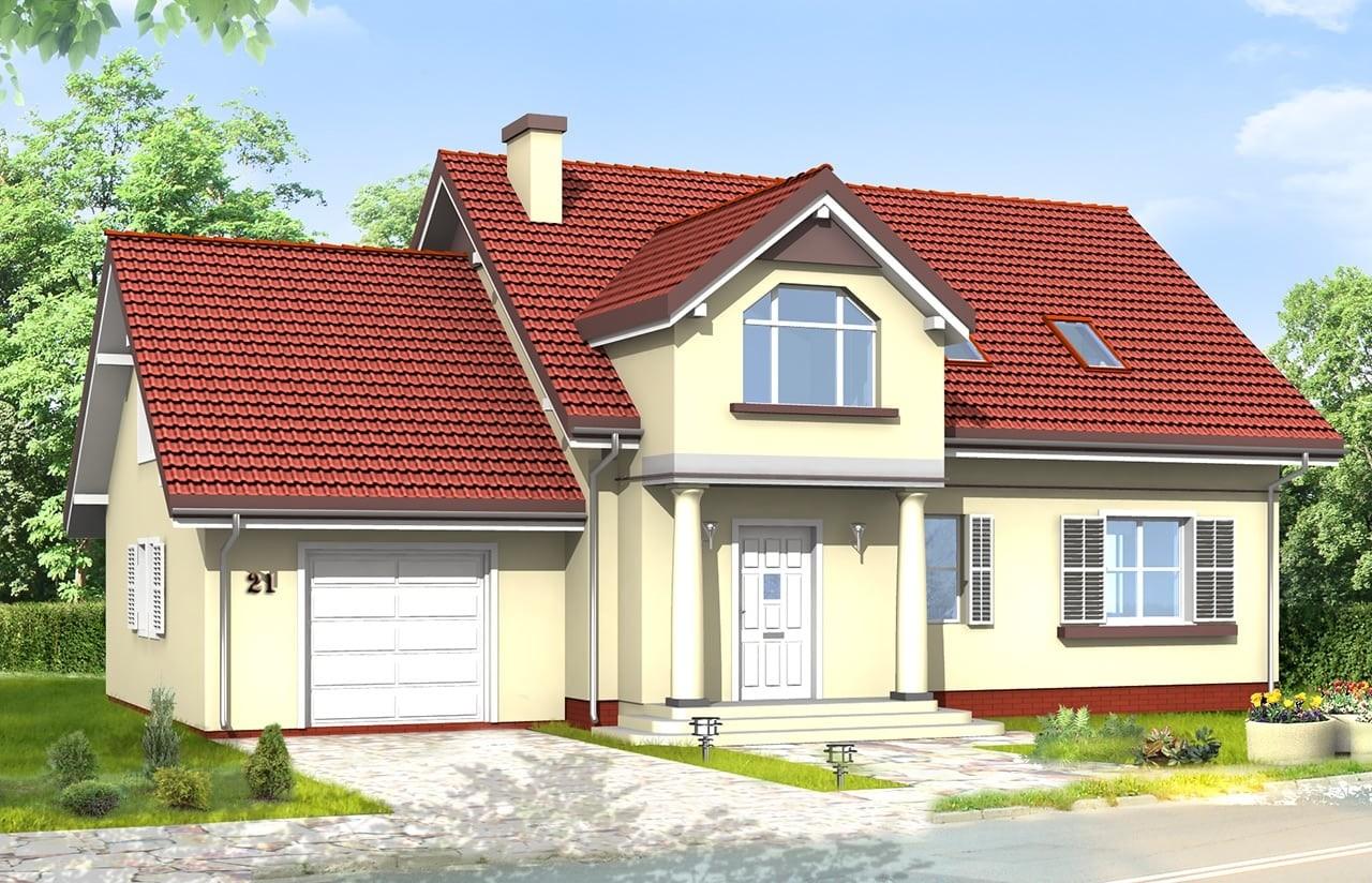 Projekt domu Zgrabny 4 - wizualizacja frontowa 2