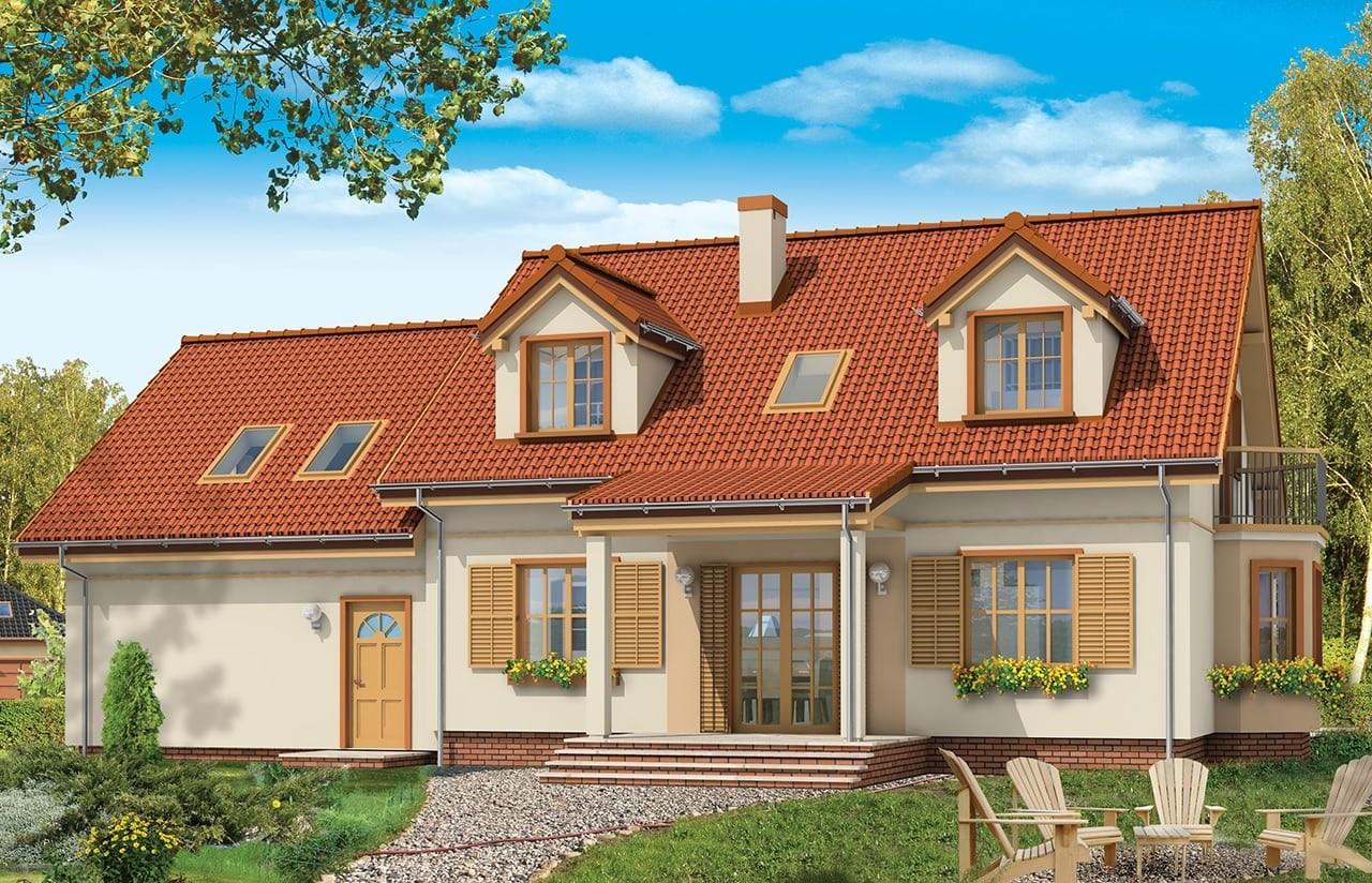 Projekt domu Zgrabny 5 - wizualizacja tylna