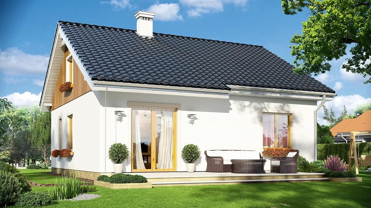 Projekt domu Zosia 2 - wizualizacja tylna