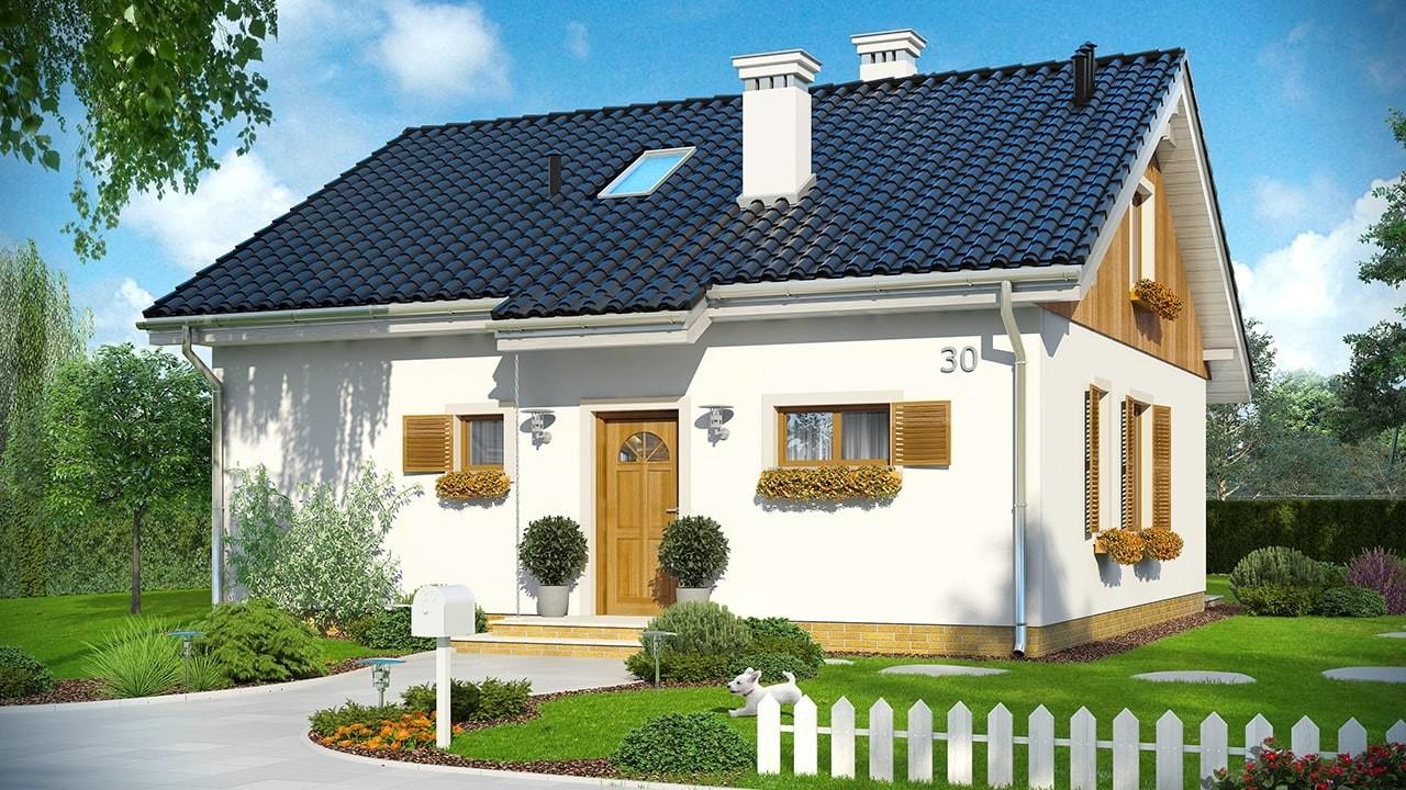 Projekt domu Zosia 3 - wizualizacja frontowa