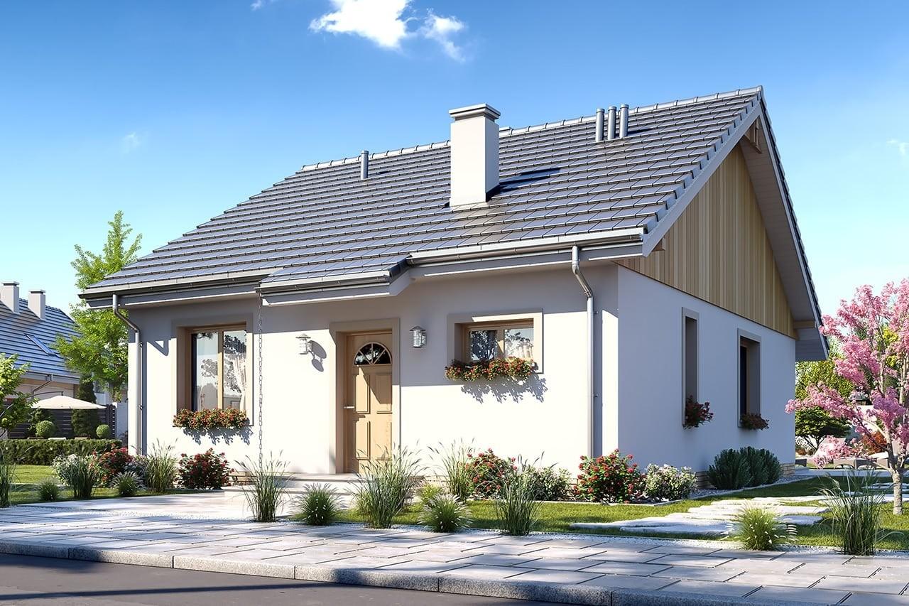 Projekt domu Zosia 4 - wizualizacja frontowa