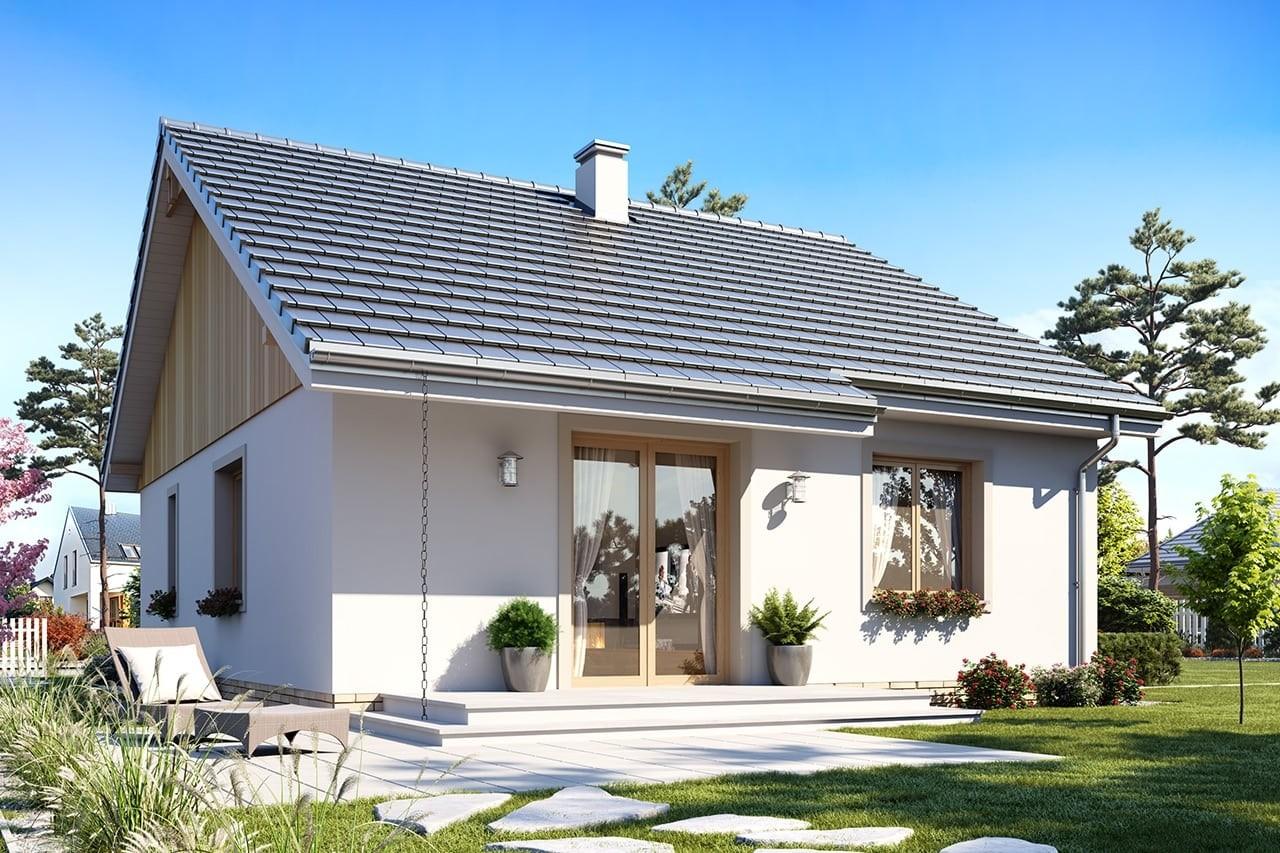 Projekt domu Zosia 4 - wizualizacja tylna