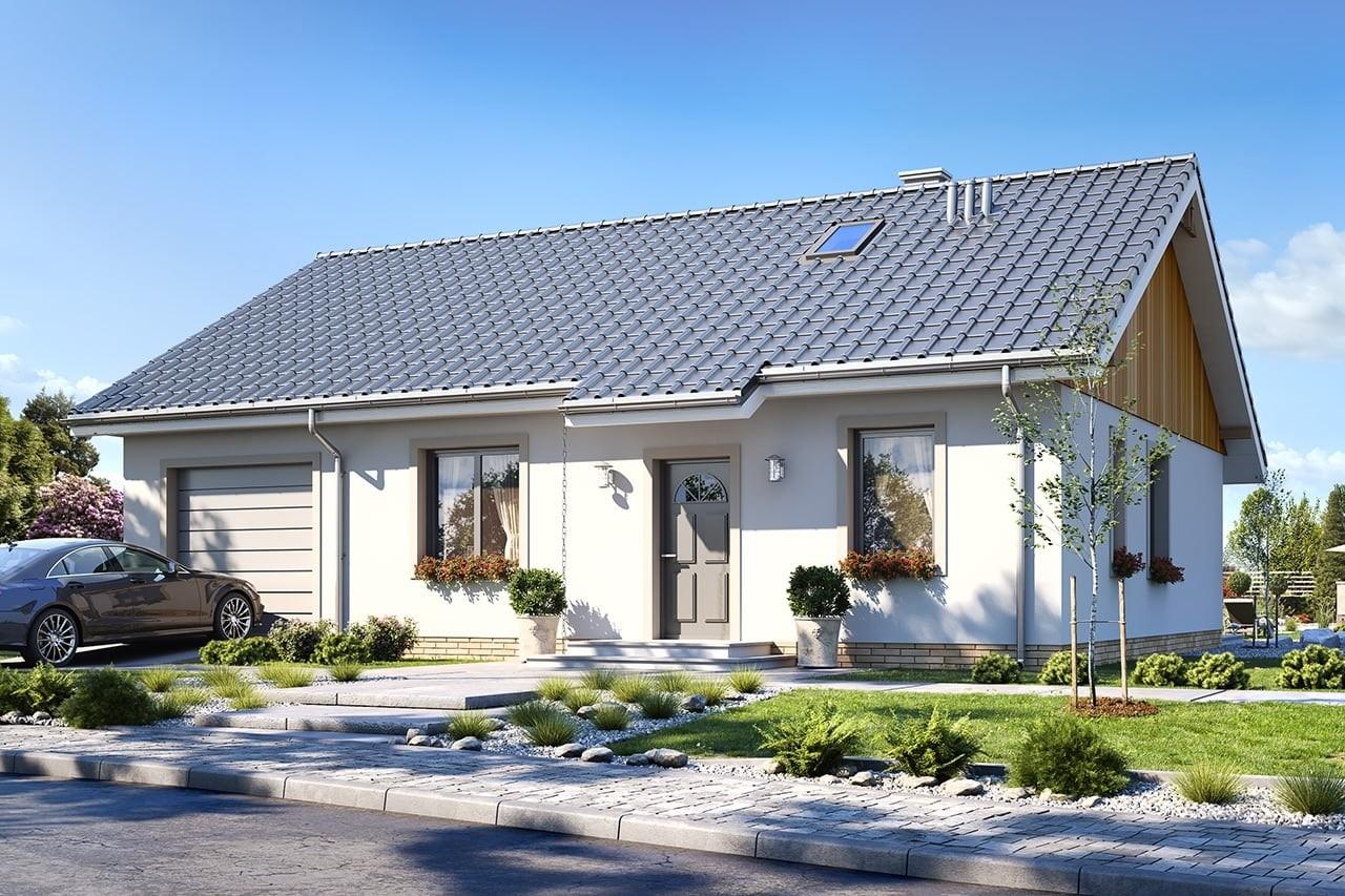 Projekt domu Zosia 6 - wizualizacja frontowa