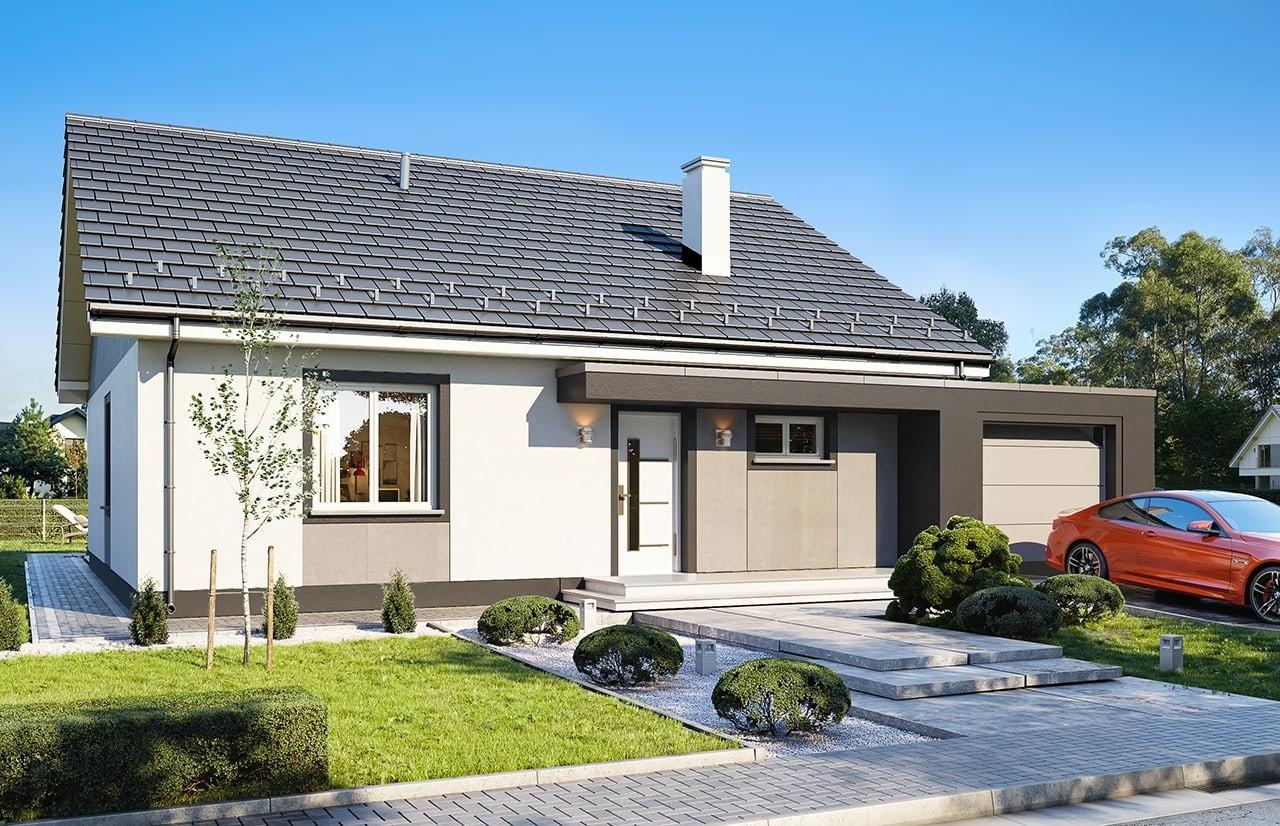 Projekt domu Zosia 7 B - wizualizacja frontowa