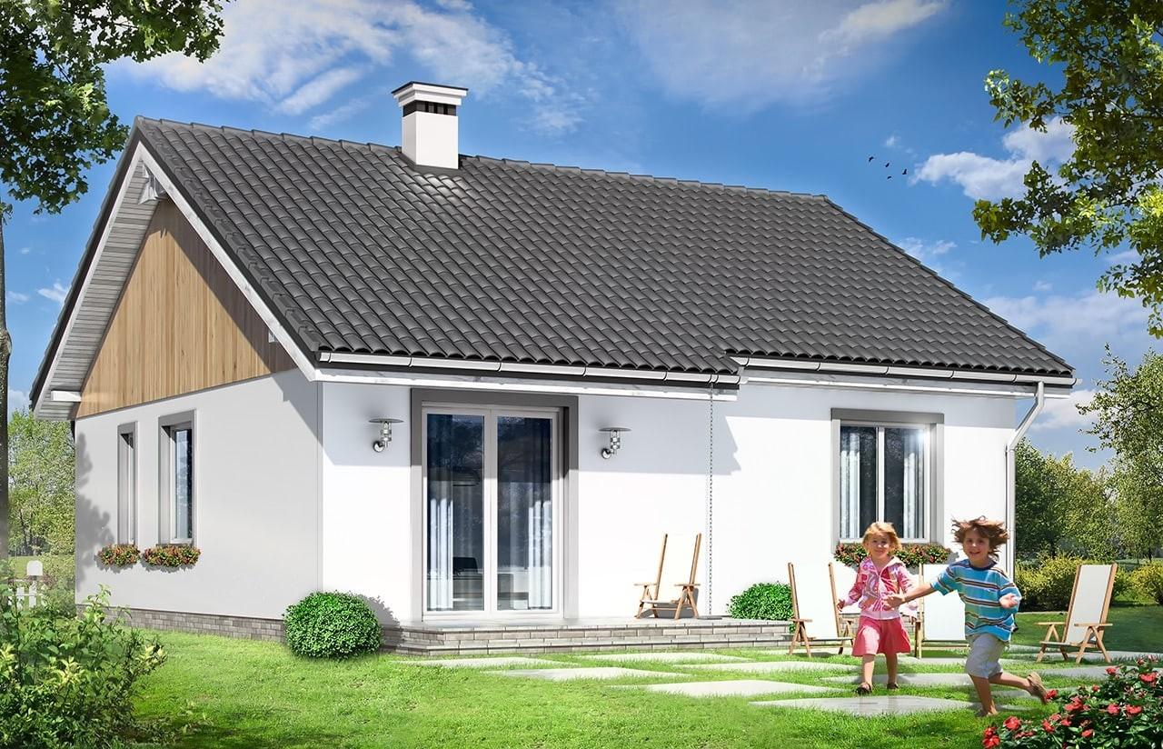 Projekt domu Zosia - wizualizacja tylna