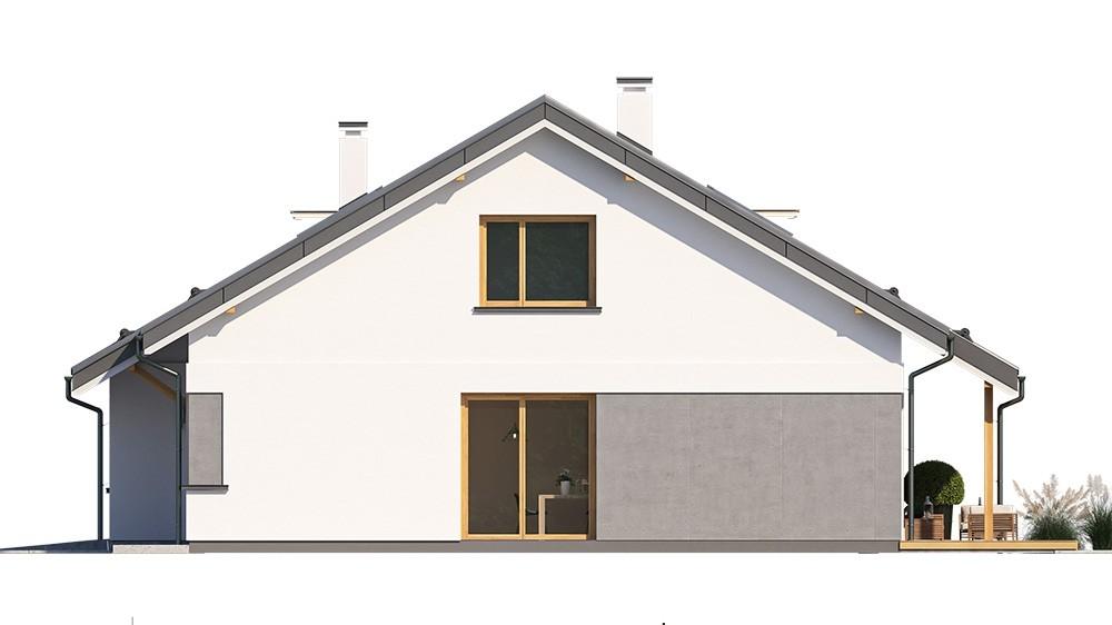 Projekt domu Ambitny - elewacja