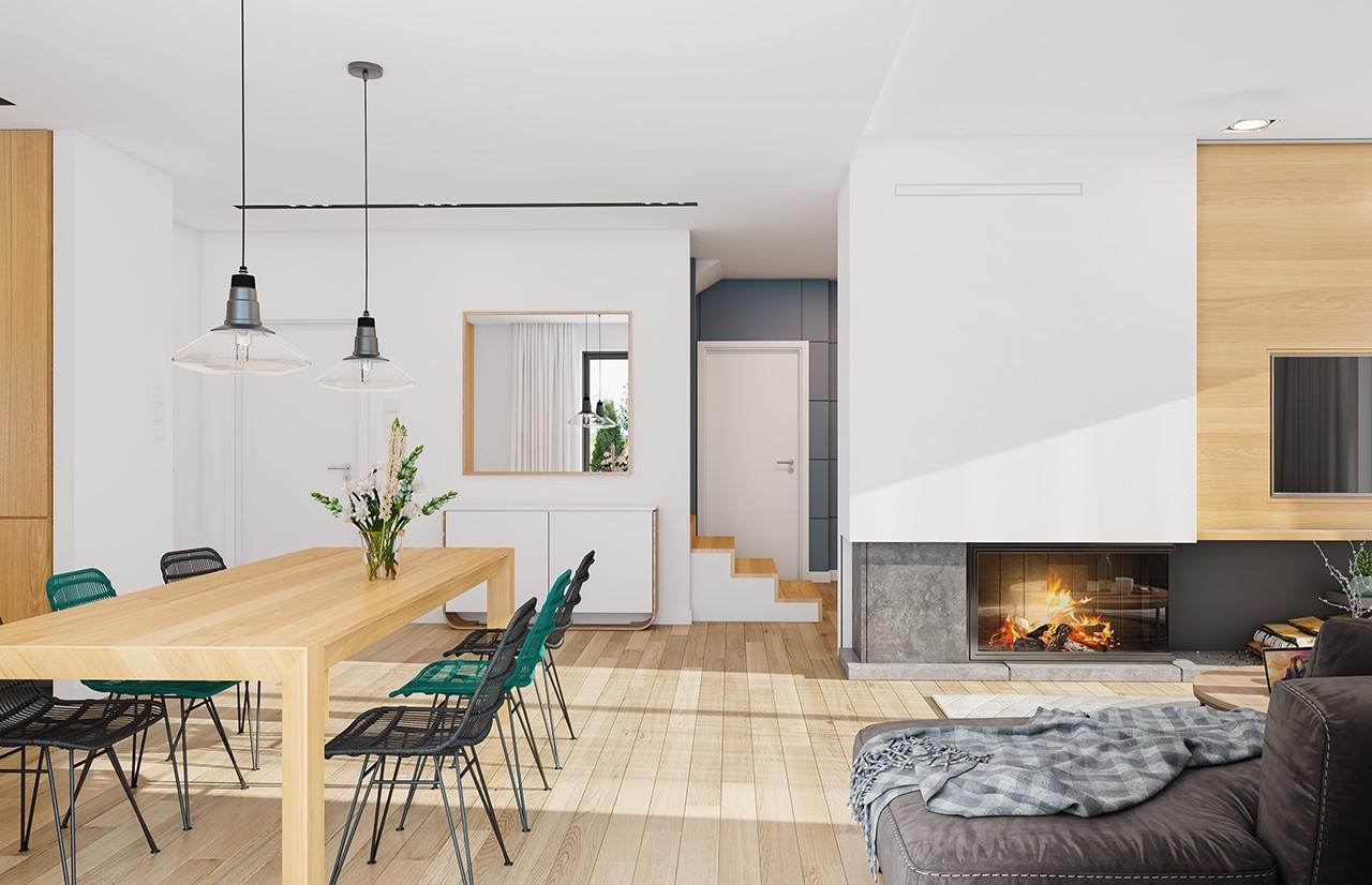 Projekt domu Ambitny wizualizacja wnetrza