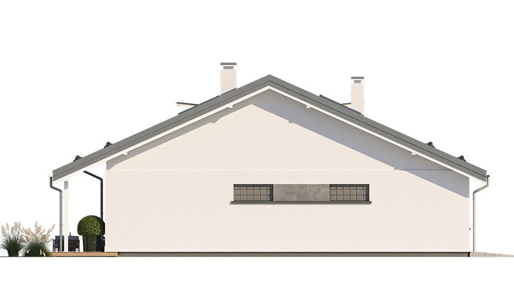 Projekt domu Ambitny 2 - elewacja