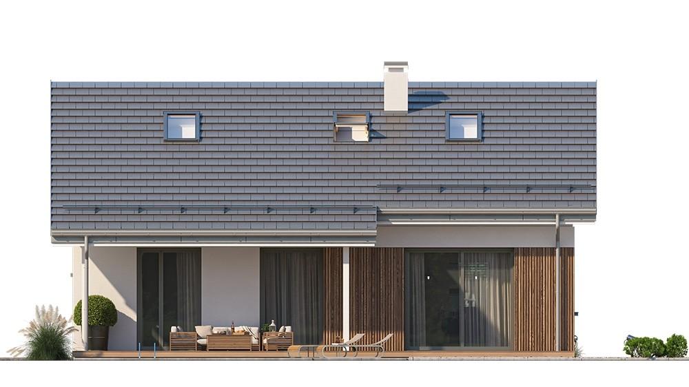 Projekt domu Ambitny 2 - elewacja odbicie lustrzane