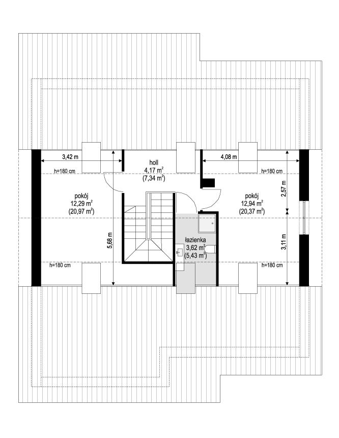 Projekt domu Ambitny 2 - rzut poddasza