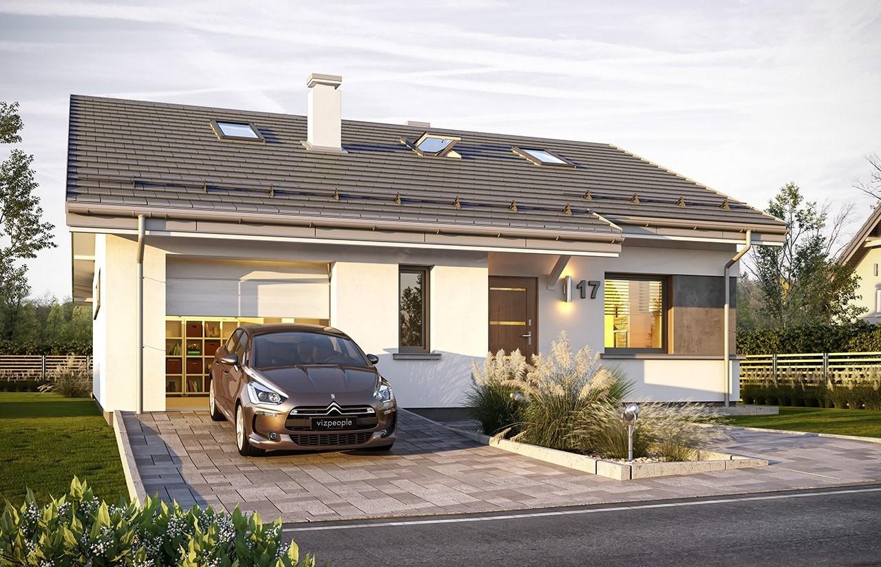 Projekt domu Ambitny wizualizacja frontu 2